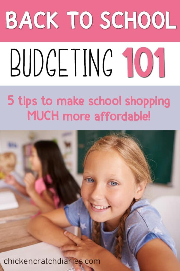 Back to School budgeting can be stressful- here's how to make it easier! #BackToSchool #Budgeting #SaveMoney