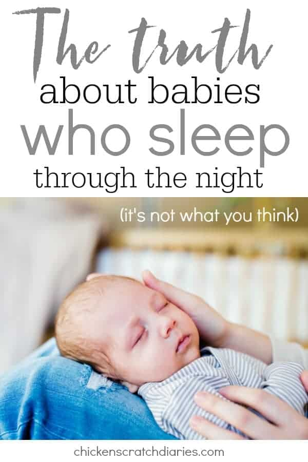 Baby won't sleep? You're not alone. Here's what's really happening when someone tells you their baby sleeps all night. #Babies #SleepTraining #ParentingHumor #MomLife
