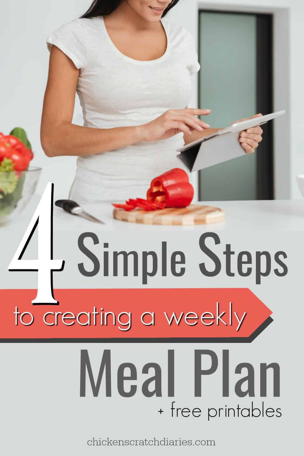 Meal Planning on a budget - free printables to get you started on a weekly meal plan you can easily maintain each week. Love these beautiful templates! #MealPlan #Budget #Printables