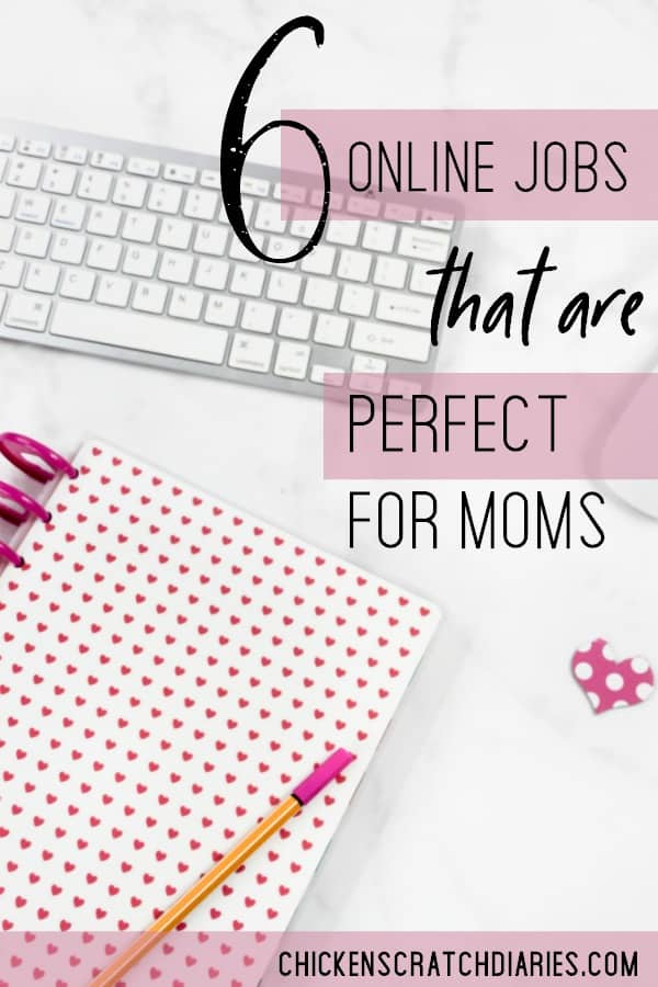 Legitimate online jobs for moms. These are some of the best options if you're serious about working from home. #WorkFromHome #OnlineJobs #SideHustle #EarnExtraMoney #WAHM