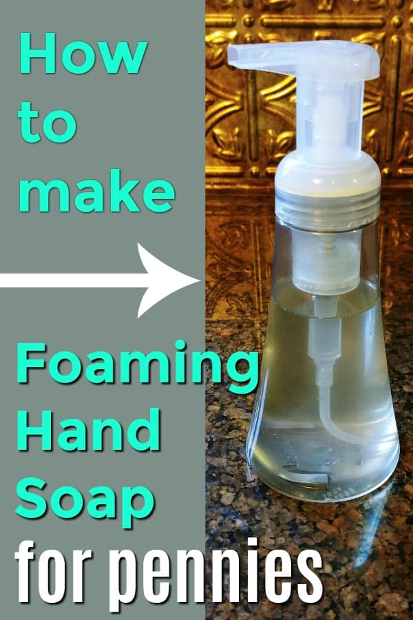 How to make foaming hand soap with 3 ingredients, for pennies! #DIY #HandSoap #Recipe #SaveMoney #Frugal