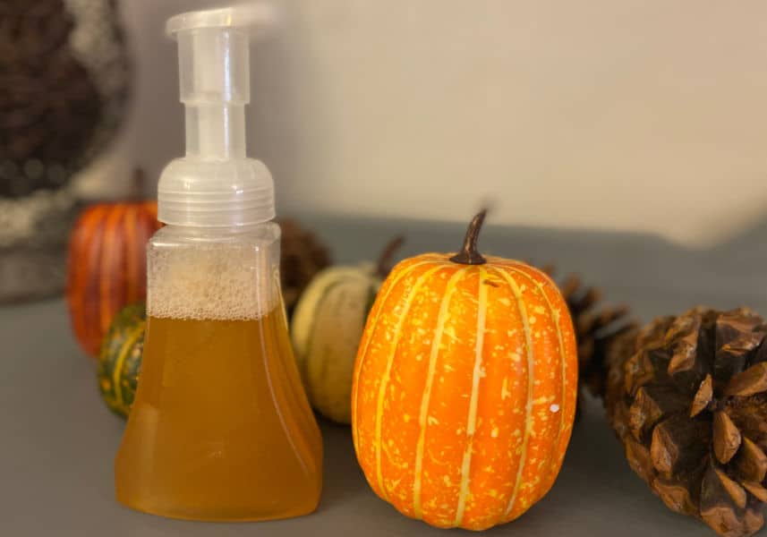 DIY Pumpkin Spice Foaming hand soap