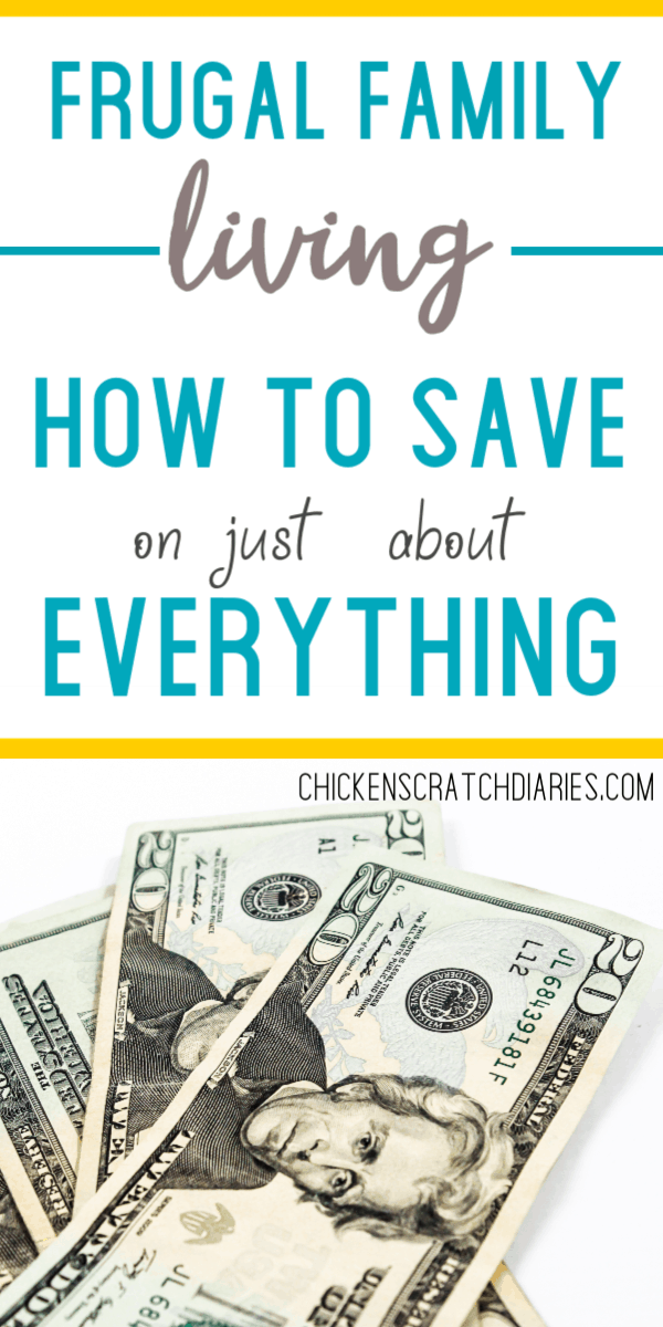 Frugal living tips for families - how to save more and live better! #Frugal #Family #SaveMoney
