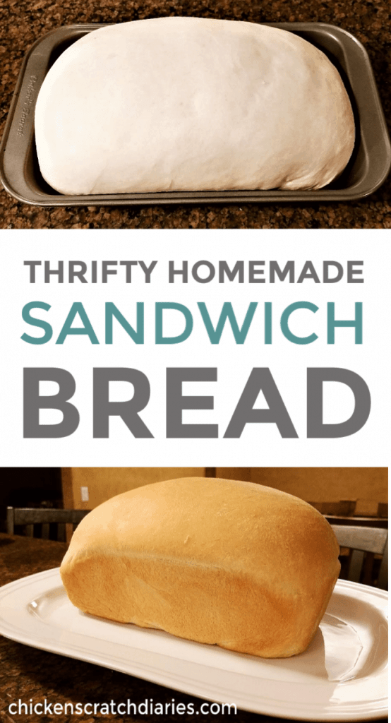 Homemade sandwich bread recipe you can make for just pennies. #SandwichBread #BreadRecipe #Homemade
