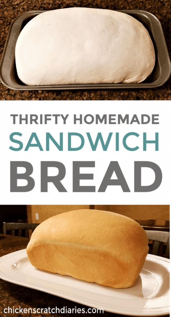 Homemade sandwich bread recipe you can make for just pennies. #SandwichBread #BreadRecipe #Homemade