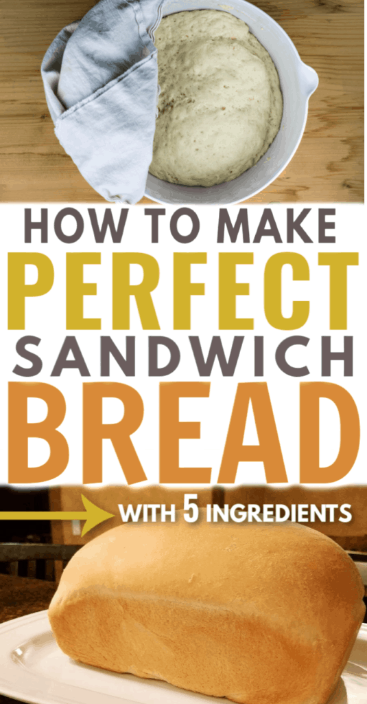 Image with text: How to make perfect sandwich bread with 5 ingredients