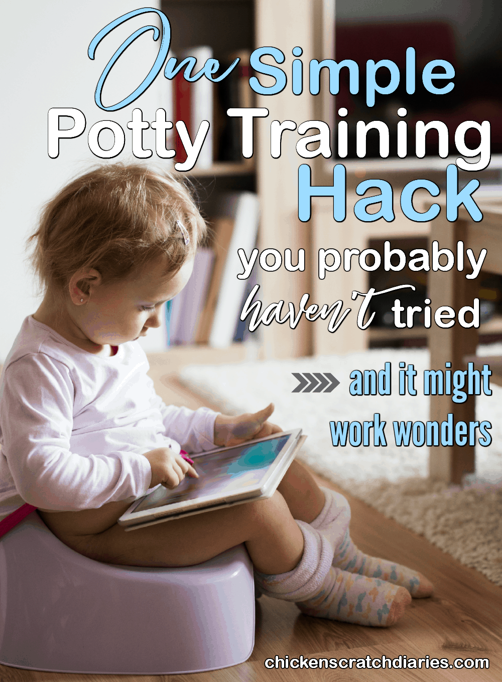 Potty training tips for when you've tried everything. This one idea might make the difference if your child is ready to potty train. #PottyTraining #Toddlers #Parenting #Advice