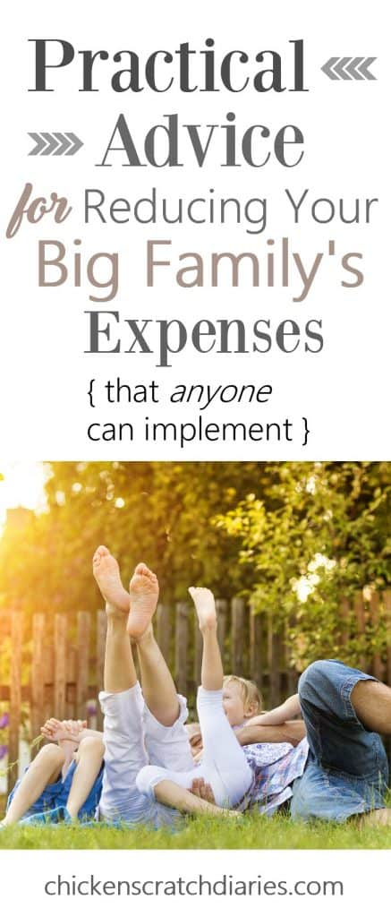 Tips for Saving Money on your Big Family's Expenses