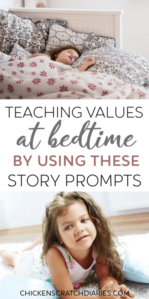 Teach values to kids AND simplify the bedtime routine chaos with these simple story ideas. #Bedtime #Values #Parenting #RaisingKids