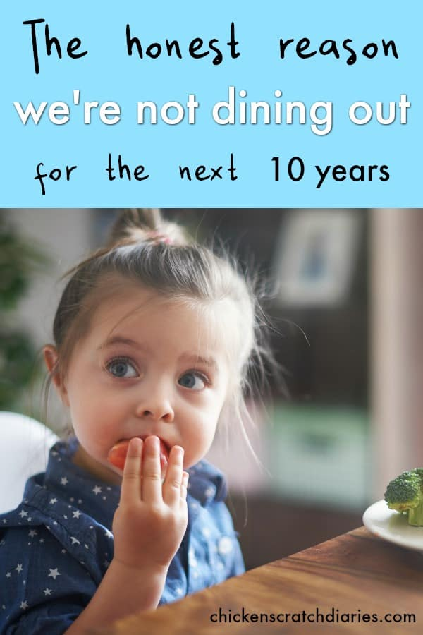 Dining in versus dining out - why we're staying home for the next 10 years. #MomHumor #Minimalism #Parenting #Kids #Restaurants