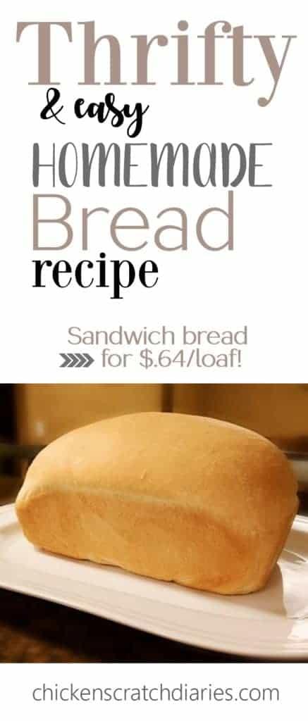 Thrifty Easy Homemade Sandwich Bread Recipe