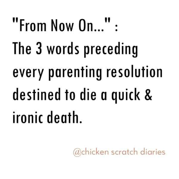 Eating our words as parents