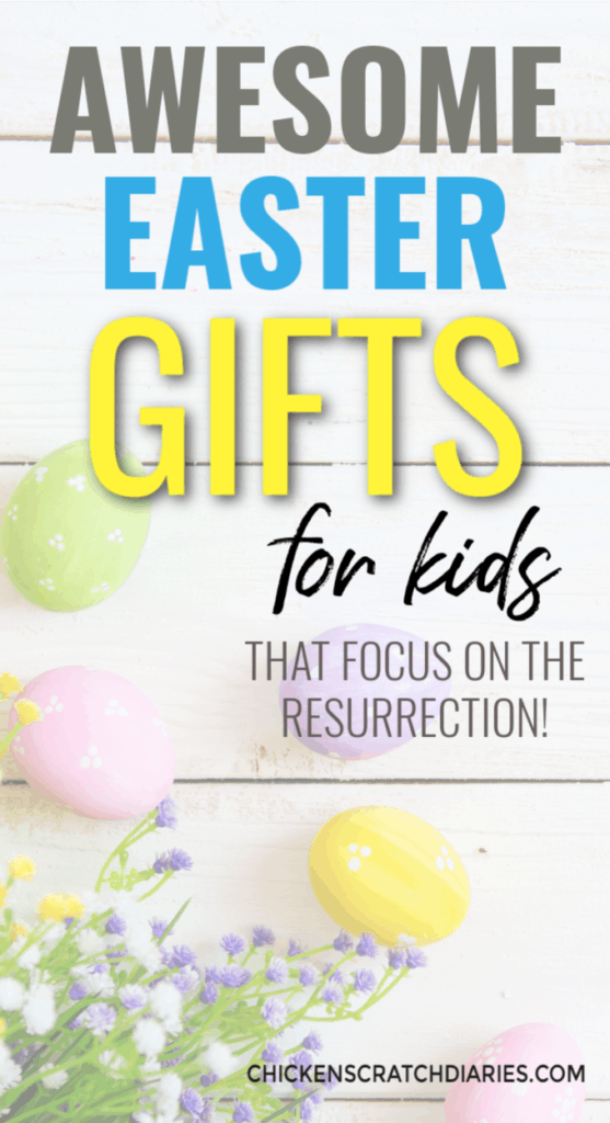 Instead of Easter basket ideas, give your kids a gift this year that focuses on Jesus and reinforces their faith all year. #Easter #Jesus #Kids