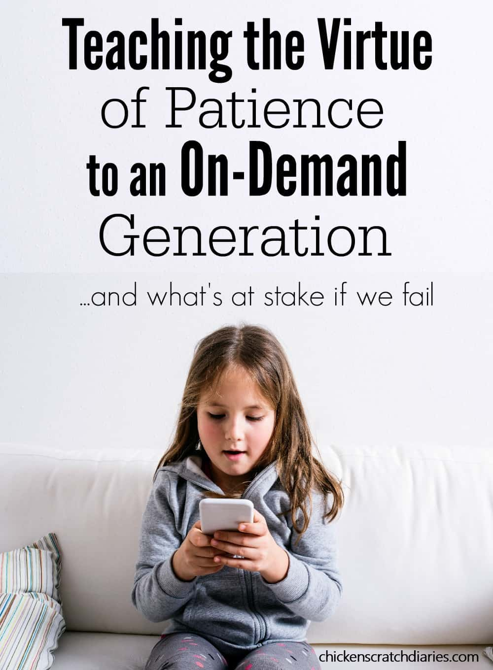Technology and Kids: It's a hot topic today, and for good reason. Have you noticed that we don't have to WAIT for anything anymore? Interesting perspective on how this could impact kids long after childhood. #Technology #Patience #Parenting #IntentionalParenting