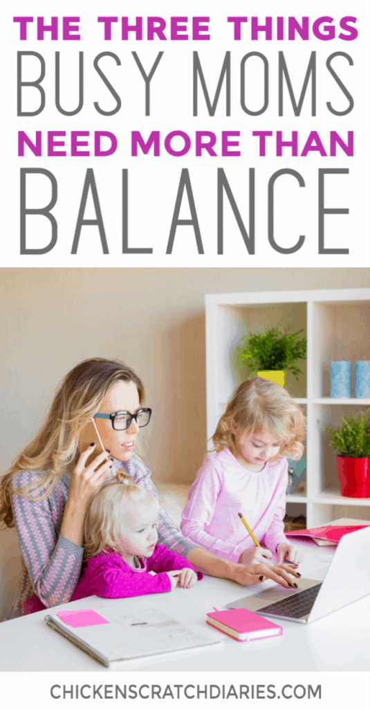 Finding balance as a busy working mom is a never-ending struggle. Here's another perspective and why it might not be as important as we think. #ChristianMotherhood #Balance #Priorities #Grace