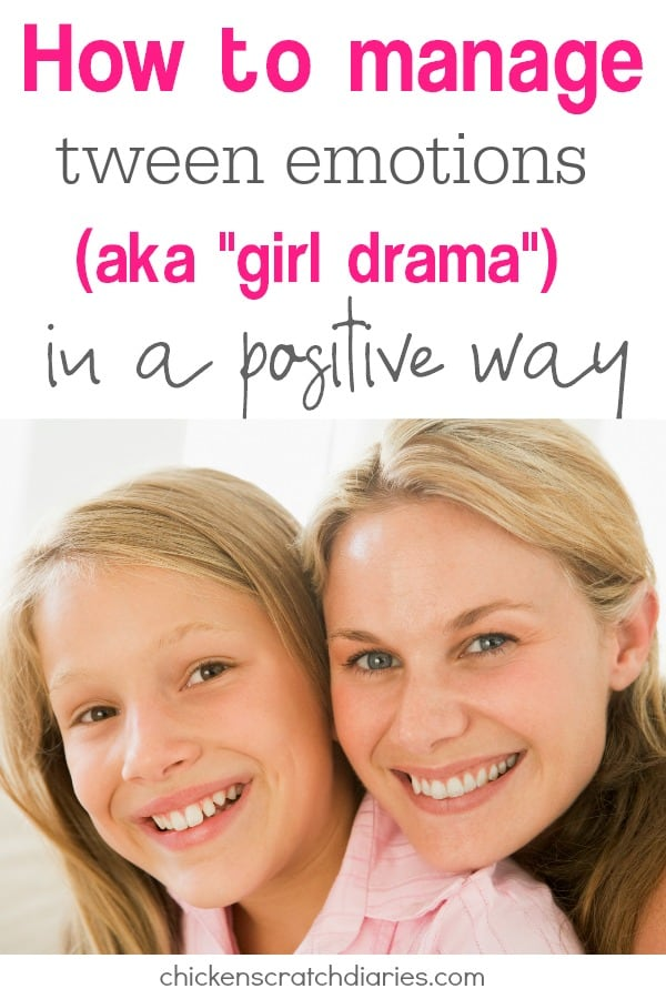 Tween emotions can be a roller coaster ride for parents as well as their daughters. Here's some tips to make the ride more manageable! #Tweens #Emotions #GirlDrama #Advice #Parenting #Moms