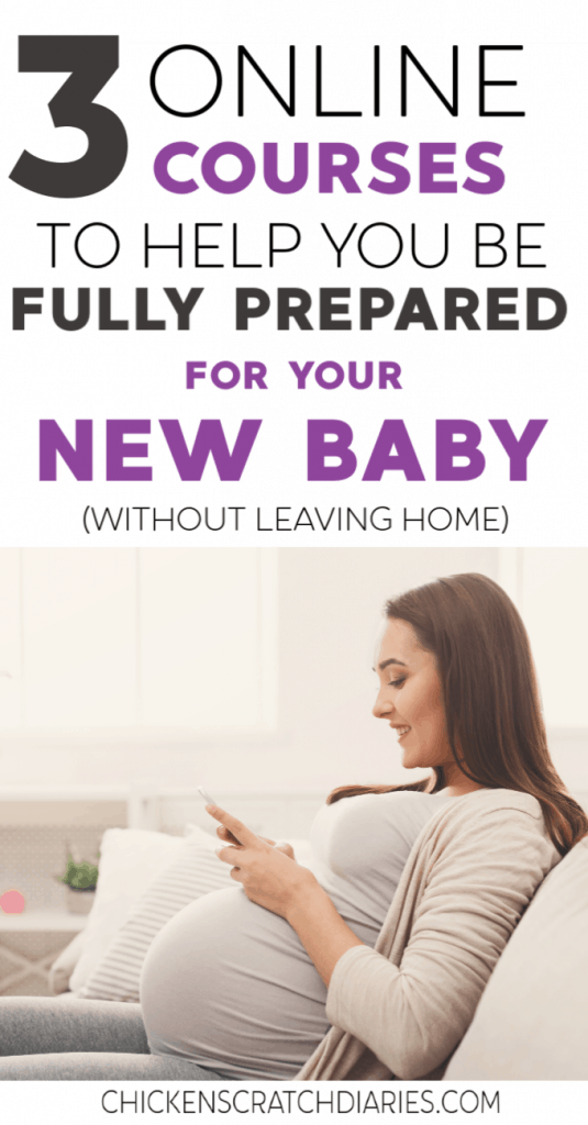 Whether you're preparing for baby for the first time or have the third trimester jitters, you'll want to check out these 3 courses so you can learn all you can before baby arrives! #Newborn #ThirdTrimester #Babies #Pregnancy #FirstTimeMom