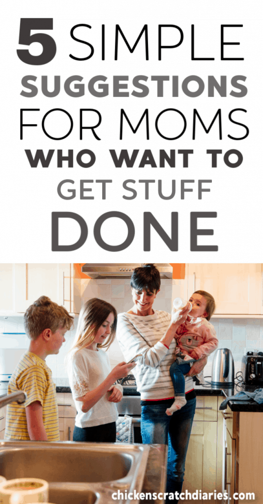 Tips for moms who want to get more done, with a baby and/or juggling multiple kids. Productivity hacks that work for moms! #Productivity #MomLife #ParentingHacks #Homemaking