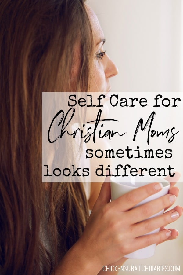 Self care tips for moms of faith - and why it sometimes looks different than we expect. #SelfCare #Motherhood #MomLife #ChristianParenting