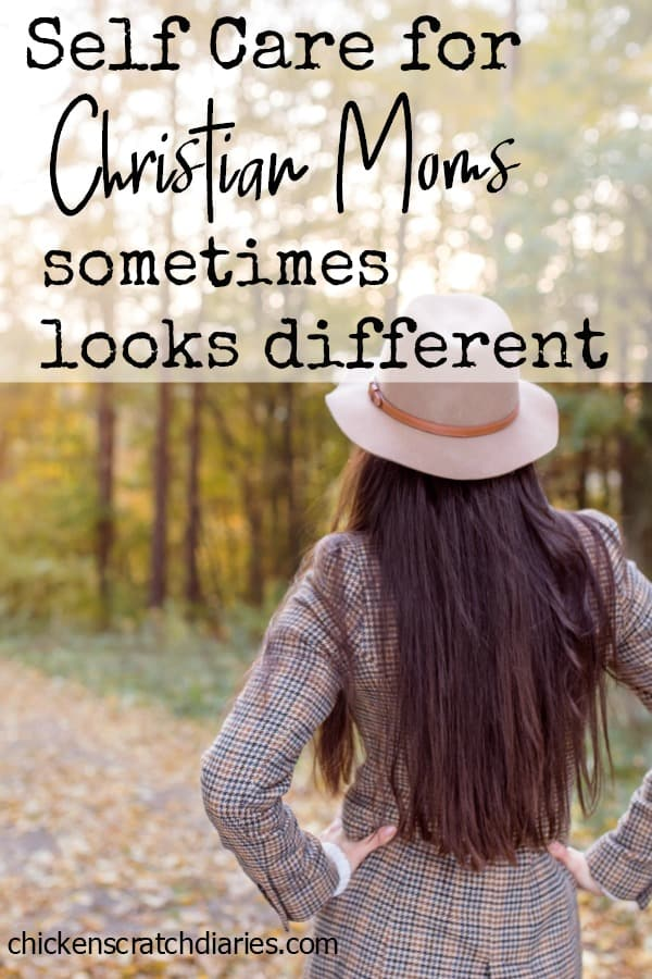 Christian moms sometimes need a different perspective on what self-care really means. #SelfCare #ChristianMotherhood #MomLife #Parenting #ChristianLiving