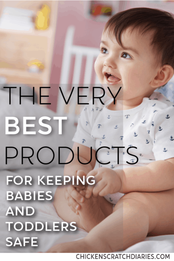 Baby safety tips: from cabinets to stairs, these items will give you more peace of mind for keeping curious babies and toddlers safe! #BabySafety #ParentingTips #BabyProducts