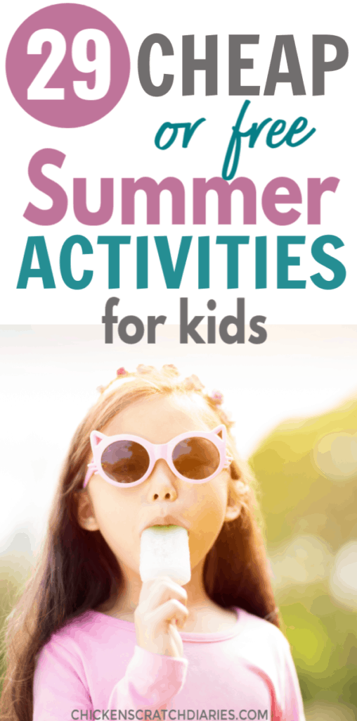 Summer activities for Kids: Image: girl eating Popsicle in summer