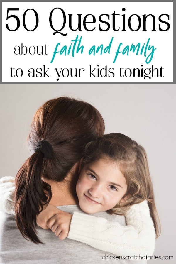 Questions to ask your kids - get the conversation flowing at dinner tonight! #QuestionsForKids #Faith #FamilyFun #IntentionalParenting #ChristianParenting