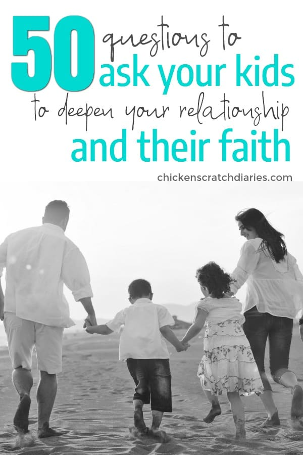 Strengthen your relationship with your child with this list of meaningful questions to ask kids! #ChristianParenting #Faith #IntentionalParenting #ConnectingWithKids #PositiveParenting