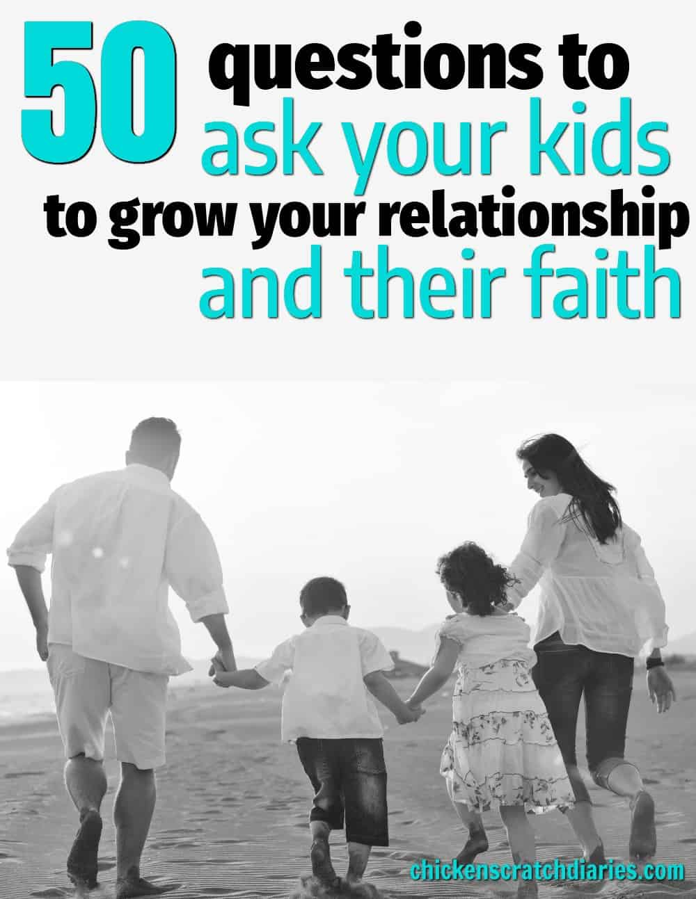 Connecting with kids in a meaningful way doesn't have to be complicated! Loved these 50 ideas to spark thoughtful conversation. #PositiveParenting #ChristianParenting #Moms #Kids