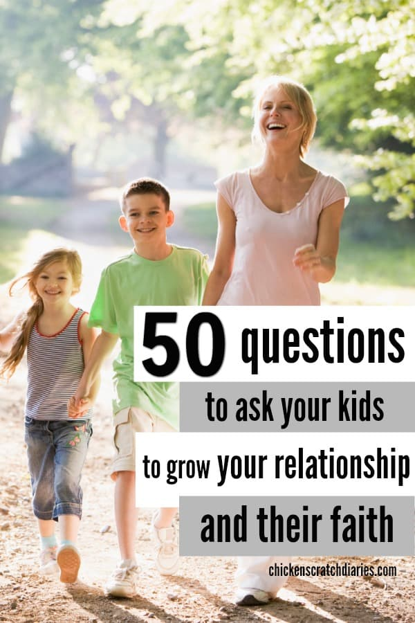 Questions to ask your kids to get the conversation flowing! #Parenting #Questions #Conversation #Connection #ChristianParenting #Faith
