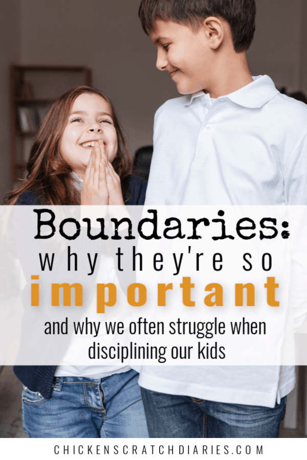 Boundaries go hand in hand with good discipline- but why do parents struggle so much in this area? Here's 3 possible reasons. #Parenting #Family #Boundaries #Discipline