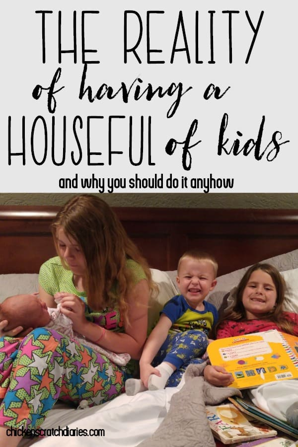 Four kids can seem like a lot to modern families, and it CAN be a challenge. But the rewards are well worth it! #BigFamily #FourKids #MomLife #Reality #Parenting