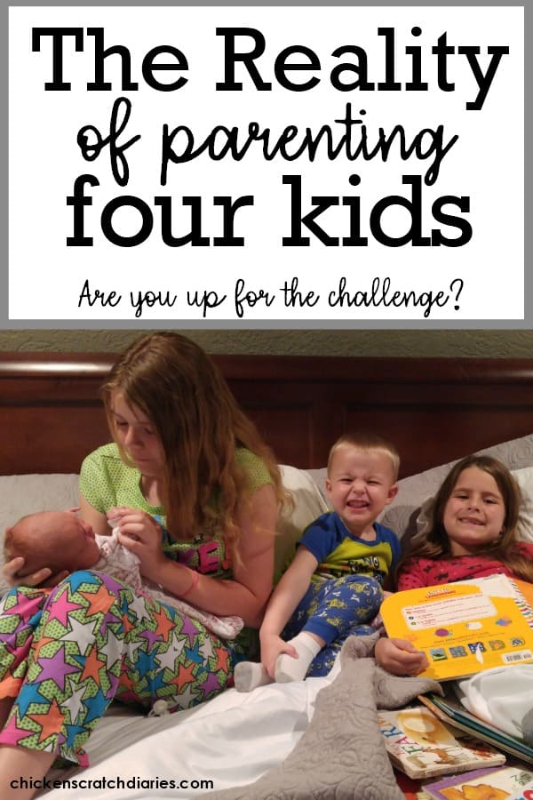 Having four kids: what it's REALLY like when you're a mom of four kids. #FourKids #Parenting #BigFamilyLife #MomLife