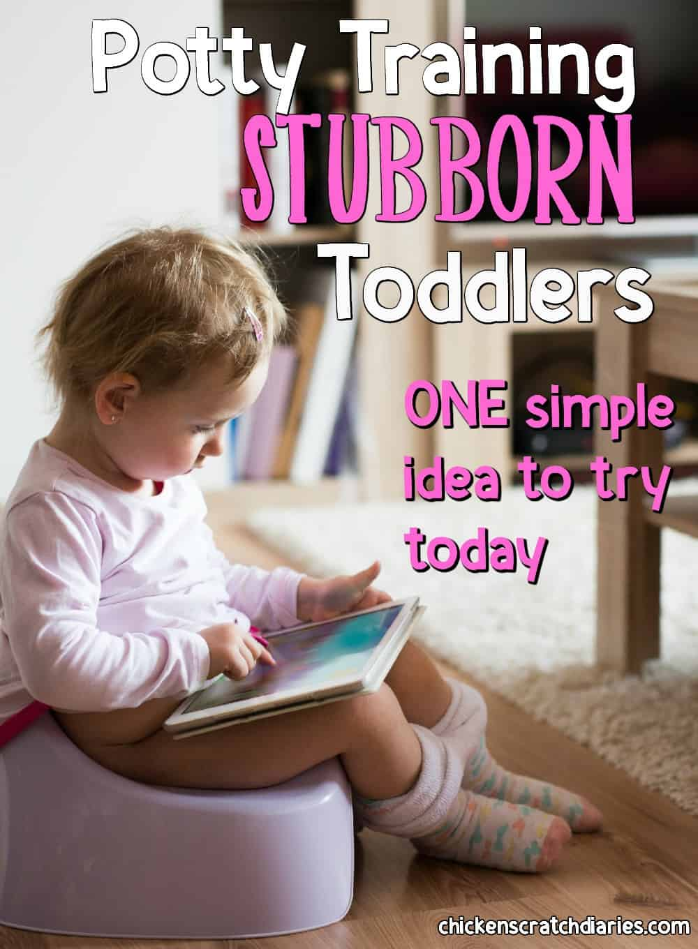 Potty training advice for stubborn toddlers who just won't comply! #PottyTraining #Advice #ToddlerLife