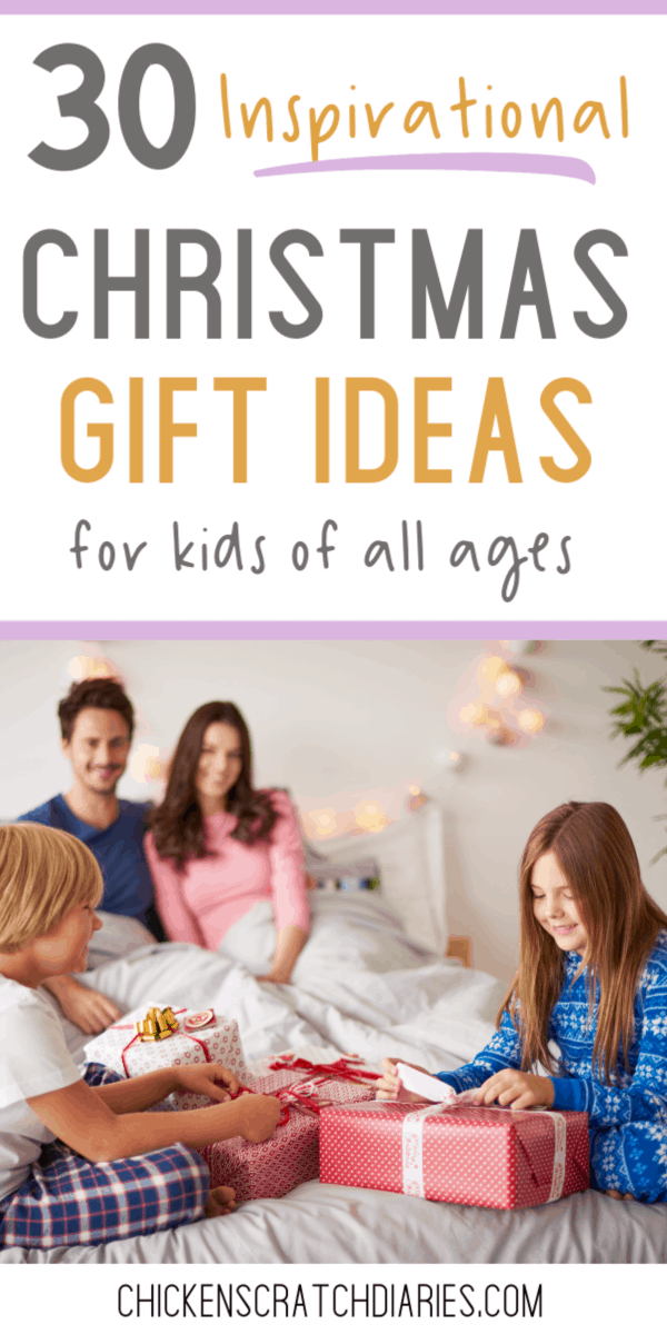 30 Christmas gift ideas for kids to encourage their faith. #Christmas #GiftGuide #Kids