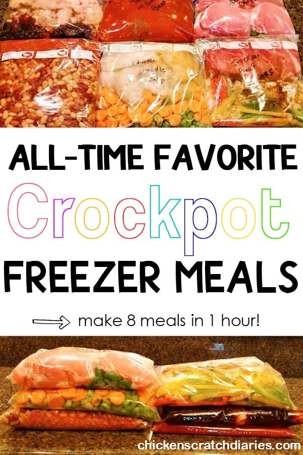 Easy crockpot freezer meals that are also kid-friendly and packed with whole foods!