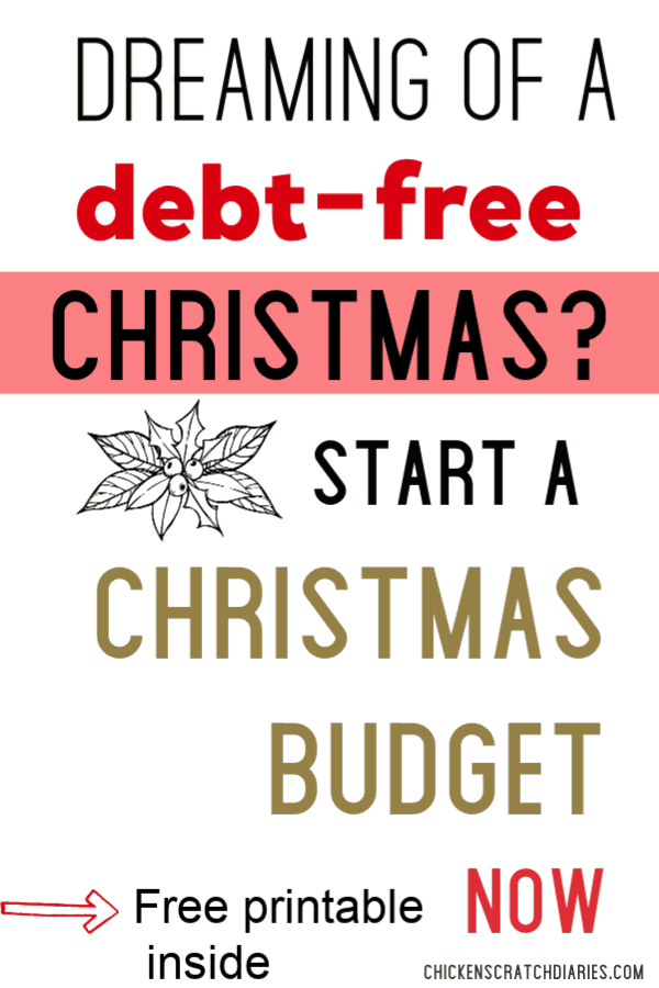 How to save money for Christmas -instead of going into debt! #Christmas #Budget #SaveMoney #Gifts