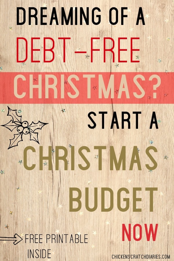 Christmas planner- free budget printable to stay OUT of debt this Christmas! #Christmas #Budget #Printable #Holidays