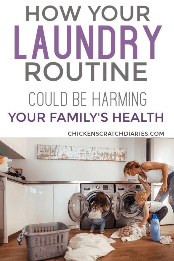 Laundry tips to keep your family healthy and safe - and why homemade laundry soap isn't the best option. #Laundry #Cleaning #Homemaking