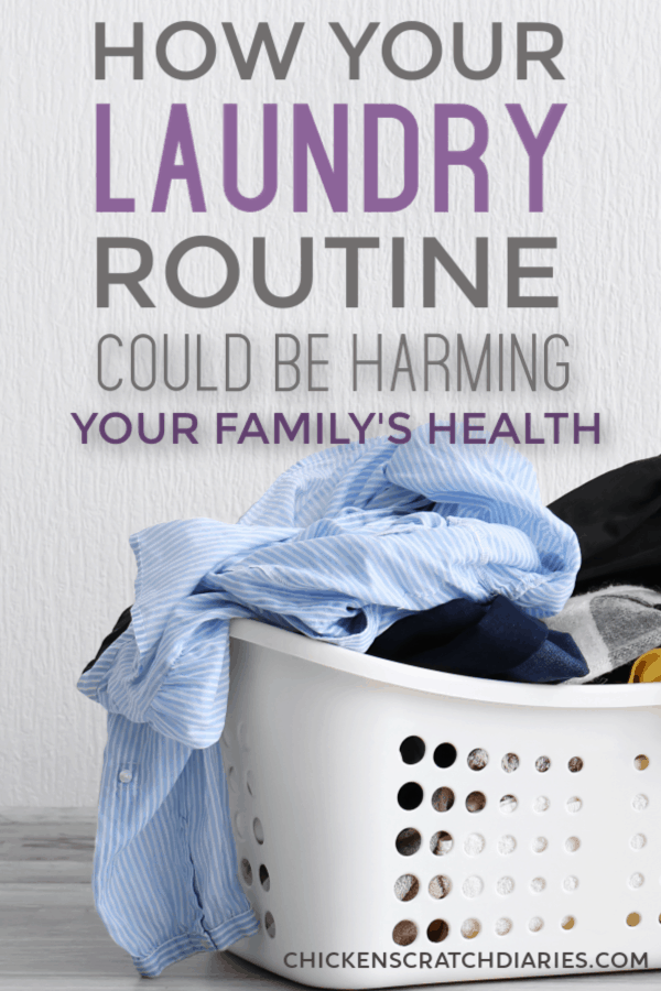 What's in your laundry products? How you do your laundry could be affecting your health. (And other unpopular facts about homemade detergent.) #Laundry #Cleaning #Health #Wellness #NaturalLiving #KidsAndFamily