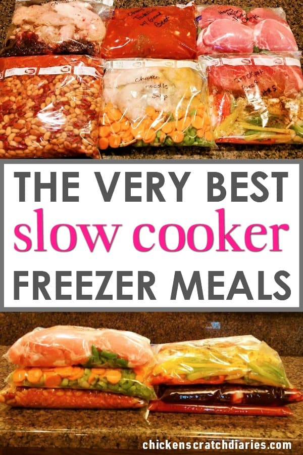 Slow cooker recipes: Freezer dump meals that you can make in one hour and eat all week long. #Crockpot #FreezerCooking #SlowCooker