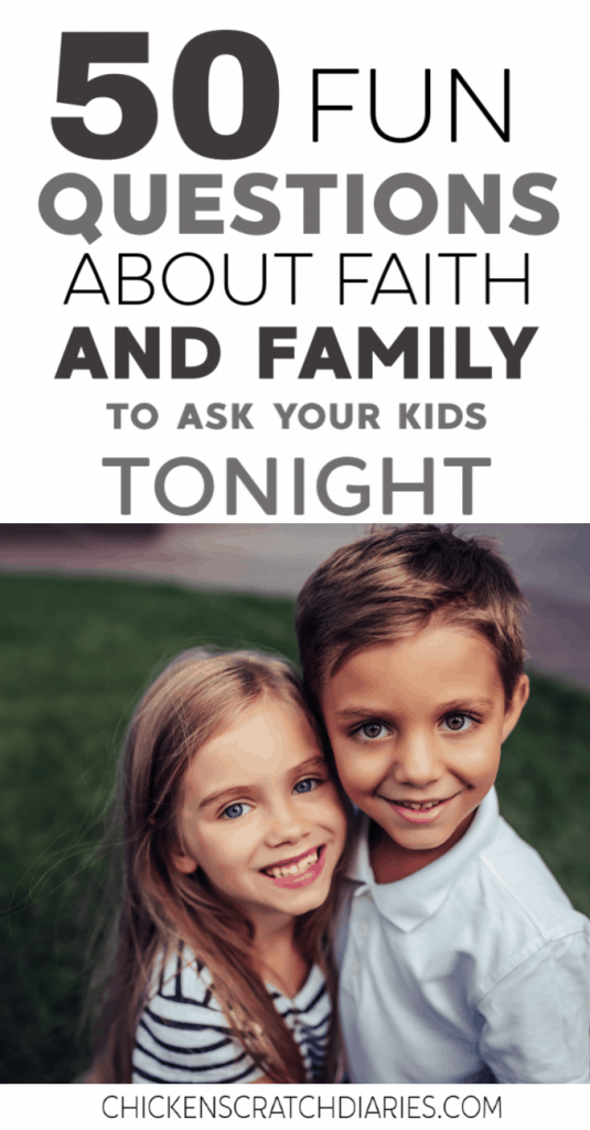 The answers to these questions for kids might surprise you! Ask these at dinner tonight. #KidsAndFamily #ChristianParenting #Faith #FamilyFun #FamilyTime #Parenting