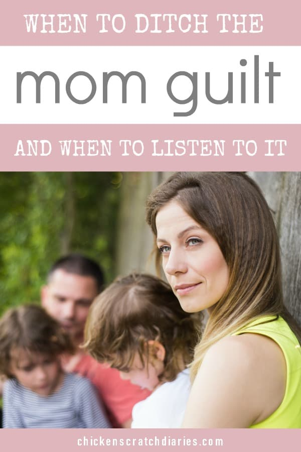 Mom guilt - a new perspective on what it might really be telling us. #MomGuilt #MomLife #WorkingMom #Parenting