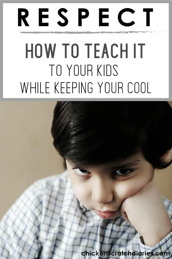 Teaching respect to kids at home - it can't be overstated. #Respect #Kids #Parenting #ChristianParenting