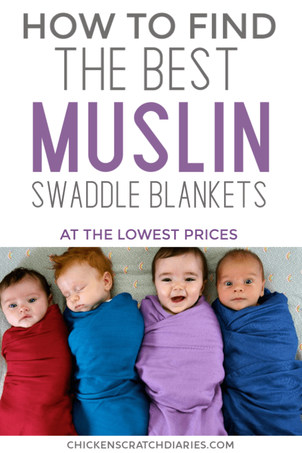 Muslin swaddle blankets have so many uses for your new baby! Here's how to find the best prices on the best quality swaddles I've found. #Muslin #Swaddle #Babies #Newborns #Nursery #SaveMoney