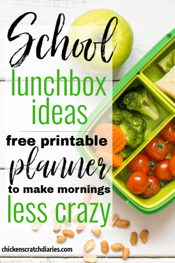 Lunch ideas perfect for packing in lunchboxes.  Printable planner with 10 recipes included.  #SchoolLunch #Lunchbox #Recipes #Kids