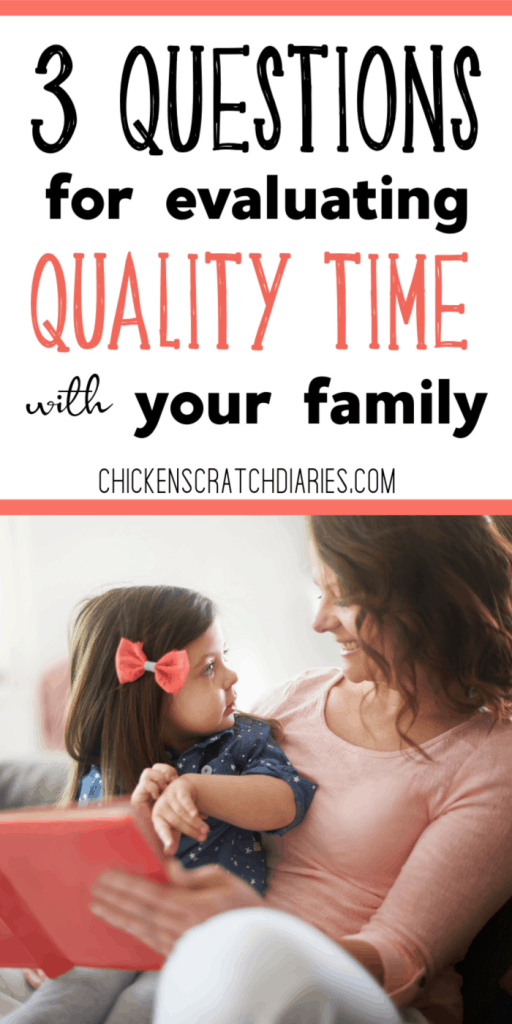 A lack of quality time with kids is a common worry of most parents. These 3 questions can help you move forward. #Parenting #QualityTime #Kids #Family