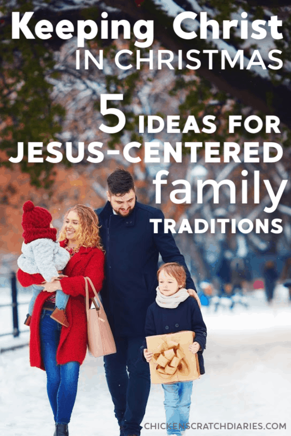 These 5 Christ centered Christmas Eve traditions can keep you focused on what really matters. #ChristmasEve #Christmas #Family #Traditions #Parenting
