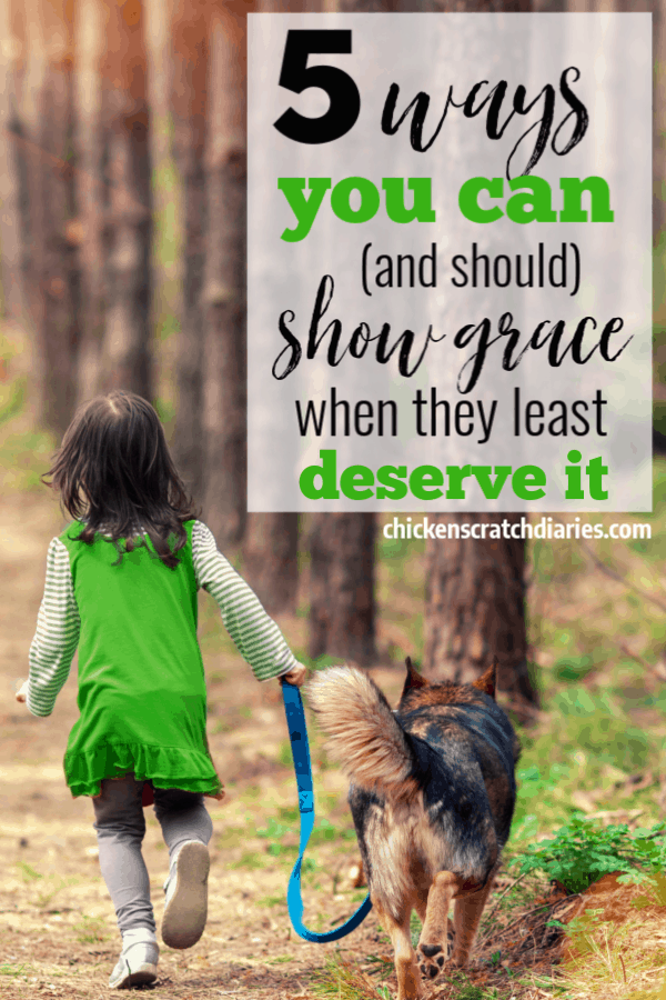 Discipline and punishment can be a big focus when bad behavior surfaces, but sometimes showing your kids grace is the answer that's needed instead. Here's why. #ChristianParenting #ChristianMotherhood #GodsGrace