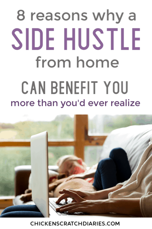 Starting an online side hustle can benefit more than just your wallet. Here's why a work at home job is a great idea for moms. #SideHustle #WorkatHome #OnlineJobs #MakeMoney